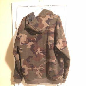 Fleece Camouflage men's zipper hoodie